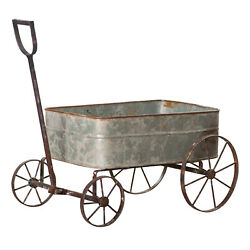 Decorative Metal Wagon Garden Planter Floral Country Store Display