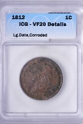 1812 Lg Date Classic Head Large Cent Icg Vf20 Details Free Shipping Aclm