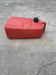 Attwood Plastic 6 Gallon Marine Outboard Boat Motor Gas Can Used