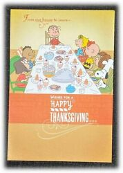 3x Lot Vintage Peanuts Snoopy Friendsgiving Happy Thanksgiving Our House Cards