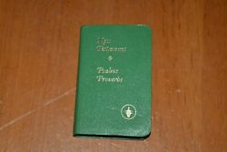 Rare Green New Never Red New Testament Psalms Proverbs 1985 The Bible Raising
