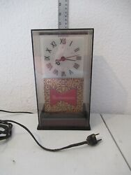 Budweiser Vintage Electric Clock With Light Tested Great Condition