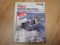 Clymer Official Service Shop Manual Force 4-150 Hp Outboards L-drives 1984-1999
