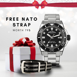 Armand Nicolet Automatic Luxury Watch With Free Nato Strap