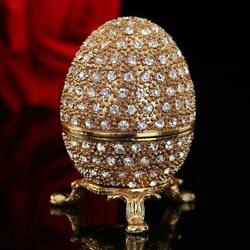 Metal Gold Stone Easter Egg And Faberge Egg Crafts Ornaments Faberge