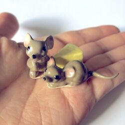 Hagen Renaker Mice And Cheese Figures Mouse