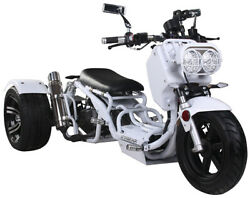 New 49cc Maddog Motor Trike Tricycle 3 Wheeler Gas Scooter Motorcycle Free Ship