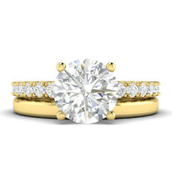 1.28ct G-vs1 Diamond With Accspts Engagement Ring 18k Yellow Gold Any Size
