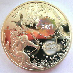 Ukraine 2010 Winter Olympics 10 Uah Colour Silver Coin,proof