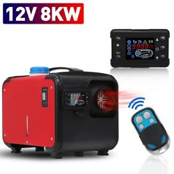 All In One Car Air Diesels Heater Red 8kw 12v One Hole Heater Trucks Motor-homes