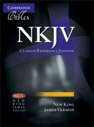 Holy Bible New King James Version, Clarion Reference, Black, Calf Split, Nk...