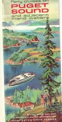 1962 Ferry Cruises On Puget Sound And Adjacent Inland Waters Brochure Scenic Map