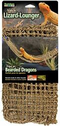 Reptile Lizard Lounger Natural For Anoles Bearded Dragons X Large Hammock 29 x 7