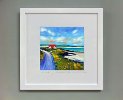 Fraser Milne And039red Roofed Cottage The Isle Of Barraand039 Framed Signed Print