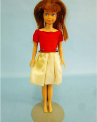 Super Rare Mattel Skipper Old Fashion Barbie Doll With Outfit Red Dress