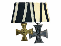 Ww1 Imperial German Military Merit Cross And Non Combat Iron Cross Medal Pair
