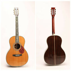 Solid Red Spruce Top 00045 Acoustic Guitar Full Abalone Inlay Including Gigbag