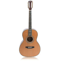 Acoustic Guitar Solid Red Spruce Top Rosewood Back Side Real Abalone Inlay