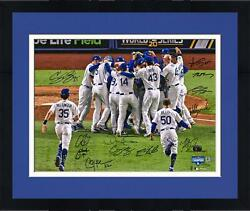 Frmd Dodgers 2020 Ws Champs Signed 16 X 20 Photo And At Least 6 Sigs - 220/220