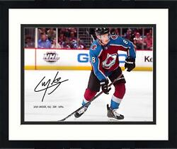 Frmd Cale Makar Colorado Avalanche Signed 16 X 20 Skating Photo And Inscs - Le 108