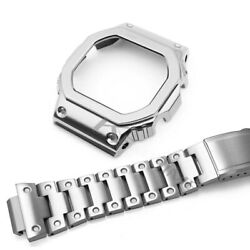 New Stainless Steel Bezel Bracelet For Casio Dw-5600 Series Watchband With Tool