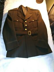 Wwii Us Army Air Force Aaf Officers Uniform Chocolate Jacket