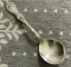 Vintage Reed And Barton Les Cinq Fleurs Sterling Round Bowl Gumbo Soup Spoon
