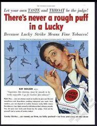 1950 Ray Bolger Photo Lucky Strike Cigarettes Vintage Print Ad