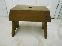 Antique Vintage Wood Small Bench  11 X 11.5