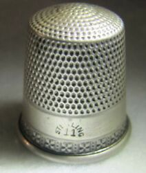 386 X's On Band Sterling Silver Thimble - Simon's Bros.co. Size 11