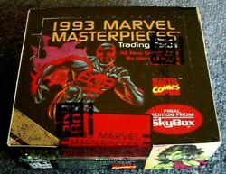 1993 Skybox Marvel Masterpieces Trading Cards Factory Sealed Box Of 36 Packs