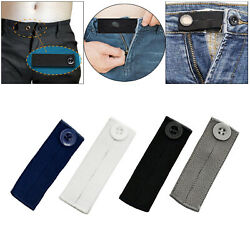 4 Pack Elastic Waist Extenders With Band, Collar Extenders/neck Extenders Jeans