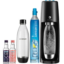 Sodastream One Touch Sparkling Water Maker Black Bundle With Co2, 2 Bpa Free B
