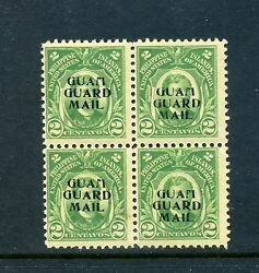 Guam Scott M1 Mint Block Of 4 Stamps With Unlisted Overprint Shift By 437