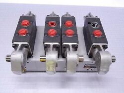 Lot Of 4 Parker 60650-54 Hydraulic Directional Flow Control Valves T108898