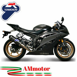 Full Exhaust System Termignoni Yamaha Yzf R6 2009 09 Motorcycle Relevance Carbon