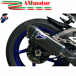 Exhaust Muffler Yamaha Yzf R1 2016 16 Motorcycle Termignoni Force Carbon New