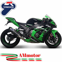 Full Exhaust System Termignoni Kawasaki Zx-10 R 2012 Silencer Relevance Carbon