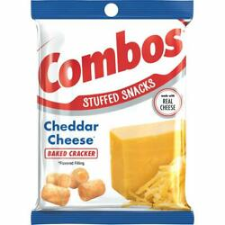 Combos Cheddar Cheese Cracker Baked Snacks 6.3-ounce Bag Pack Of 12