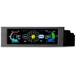 5 Channel Desktop Pc Fan Controller Automatic Speed Control Lcd Front Panel C2f1