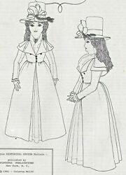 24antique French Fashion Doll@1790 Riding Coat-dress Petticoat Hat Boot Pattern