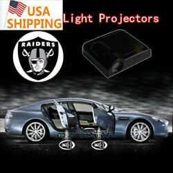 Black And White Oakland Raiders Logo Car Door Wireless Ghost Laser Projector Light