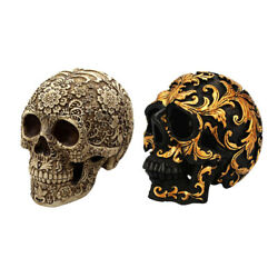 2x Vintage Day Of The Dead Life Size Statue Halloween Party Spoof Prop