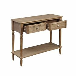 Ergode French Country 2 Drawer Hall Table With Shelf