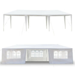 10'x30' Carport Garage Car Shelter Canopy Party Tent Sidewall With Windows White