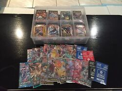 Pokemon Sealed Booster Pack Collection 125 Tcg Packs + Protective Storage Case