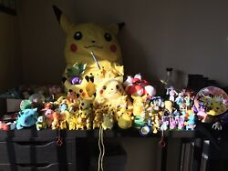 Lot Of Vintage Pokemon Toys Life Size Plush, Balloons, Figures + Much More 📈