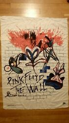 Vintage 1982 Pink Floyd the Wall Large Fabric Tapestry Amazing Graphics Rare