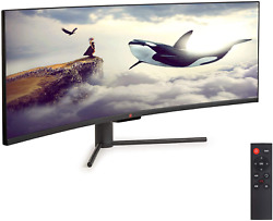 Deco Gear 2-pack 43 Curved Ultrawide E-led Gaming Monitor, 3210 Aspect Ratio,