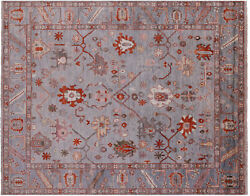 7and039 10 X 9and039 8 Turkish Oushak Hand-knotted Wool Rug - Q9830